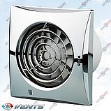 Хромированный вентилятор ВЕНТС 125 Квайт хром (VENTS 125 Quiet chrome), фото 2