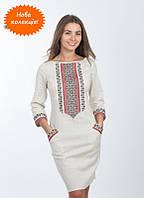 Модное вышитое женское платье, машинная вышивка