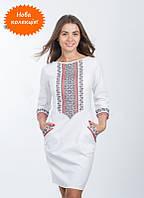 Современное женское платье, машинная вышивка