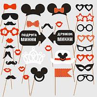 "Фотобутафория ""Микки и Минни"", свадебная бутафория,  декорации для фотосъемки, бутафория для фотоссессии"