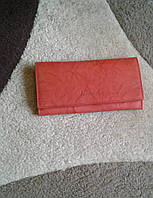 Кожаный кошелек красный из качественной кожи.(Турция)