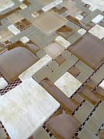 Мозаика микс оникс со стеклом Vivacer RS75 коричневая