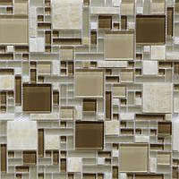 Мозаика из оникса бежевая с коричневым Vivacer RS75