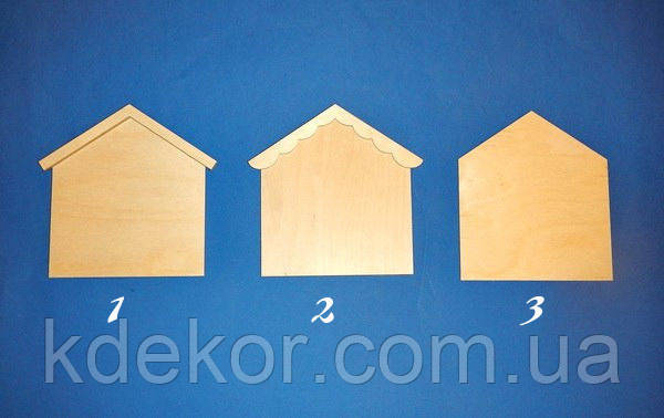 Домик №1 (с прямой крышей) панно, ключница заготовка для декупажа и декора