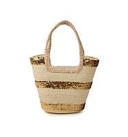 Соломенная сумка Корзина узорная