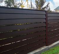 Забор из металлических ламелей «Стандарт»