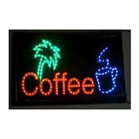 """Светодиодная рекламная панель """"Coffee"""" BIGlights BMLED(33*55*1,5)"""