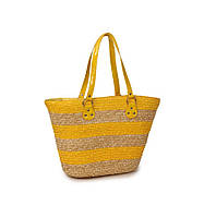 Соломеная сумка Корзина с полосками