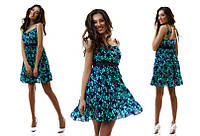 Платье женское короткое шифоновое с цветочками P2333