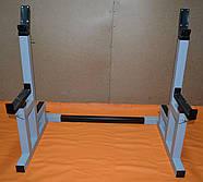 Стойки для приседа / Стойки для жима лежа регулируемые, со страховыми упорами MALCHENKO, фото 3