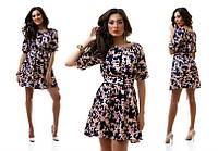Платье женское короткое атласное повседневное P2337