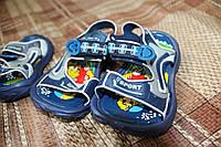 Детские резиновые сандалики для малышей, синие