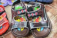 Детские резиновые сандалики для малышей, коричневые