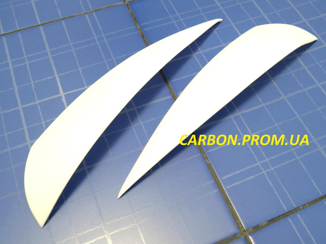Ресницы ANV Air ВАЗ 2170 Приора белые тюнинговые накладки на автомобильные фары Priora
