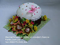 Конфетная пасха с лилиями, фото 1