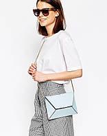 Женская сумка ASOS 3D Panelled Chain Bag голубого цвета