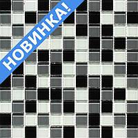 Мозаика для кухни черно-белая Vivacer MixC010