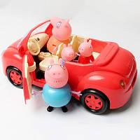 Свинка Пеппа 4шт и красная машина