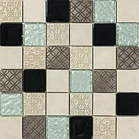 Мозаика с декором из натурального камня Vivacer Mix Biege