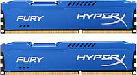 Модуль памяти DDR3 8Gb (2x4GB) 1600 MHz HyperX Fury Blu Kingston (HX316C10FK2/8)
