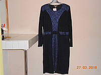 Нарядное платье с атласным гипюром
