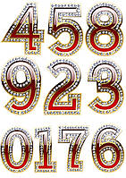 Цифры 62 вафельные картинки