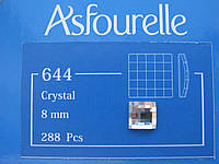 Стразы клеевые Asfour Квадрат 8мм. Crystal