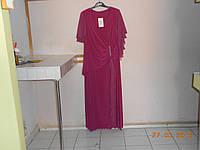 Эффектное платье батал с шифоновыми деталями