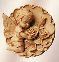 Силиконовый молд Ангелок с розами