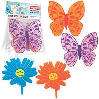 """Набор мини ковриков """"Бабочки-цветочки"""", фото 1"""