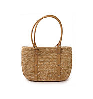 Соломеная сумка с ремешками