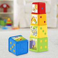 Веселые кубики «Складываем и исследуем», 6 шт., CDC52