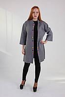 Стильный кардиган-пальто с яркими пуговицами 00004