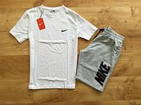 Мужской летний комплект Nike (шорты + футболка) Стильный
