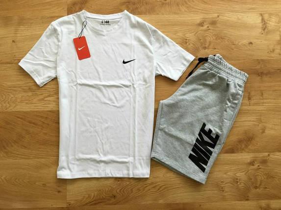Мужской летний комплект Nike (шорты + футболка) Стильный, фото 2