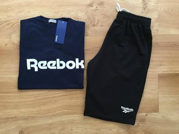 Мужской летний комплект Reebok (шорты + футболка) Все размеры, фото 2