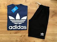 Мужской летний комплект Adidas (шорты + футболка)