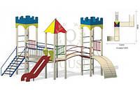Детский уличный игровой комплекс КВ 3-3