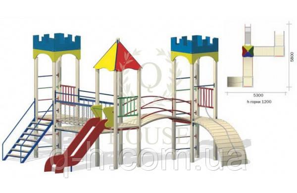 Детский уличный игровой комплекс кв 3-3, фото 2