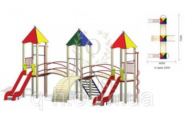 Детский игровой комплекс для улицы кс 2-4, фото 2