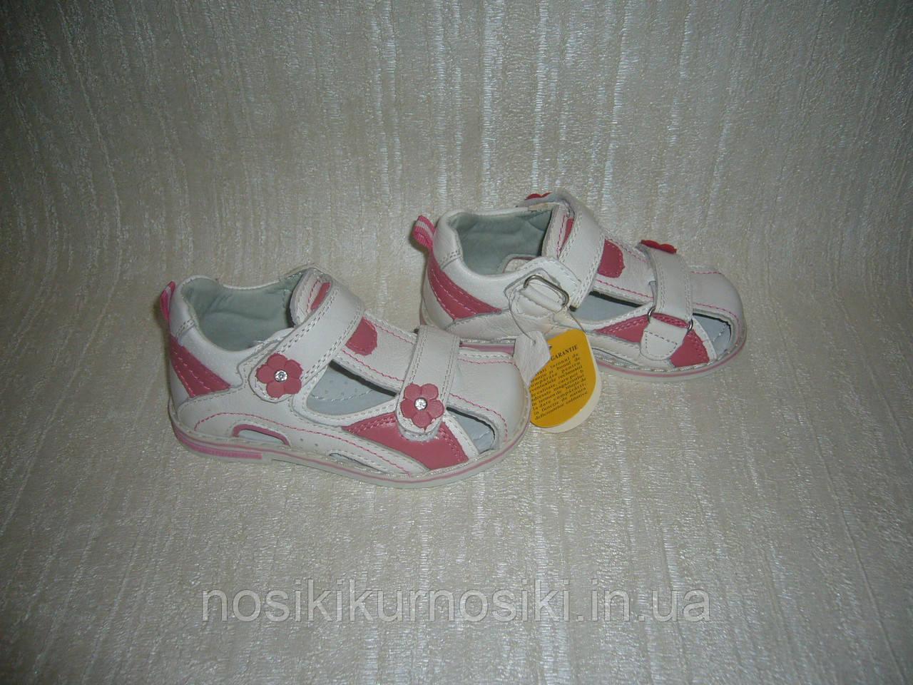 Кожаные босоножки сандалии для девочек Clibee размеры 30