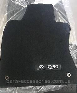 Infiniti Q50 2014-17 коврики велюровые черные передние задние новые оригинал