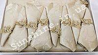 Скатерть Ayisigi Турция 160х220 + 8 салфеток с кольцами бабочки