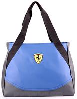 Сумка женская Ferrari цвет голубой с серым RS