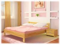 Кровать из натурального дерева «Рената»
