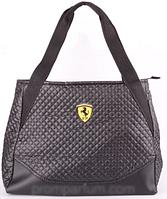 Сумка женская стеганая Ferrari черная RS