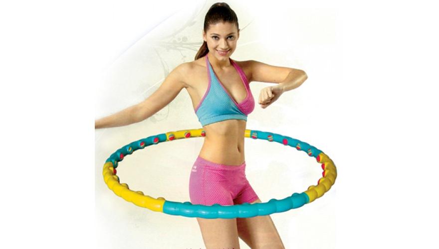Массажный обруч ХулаХуп,обруч для похудения  Hula Hoop