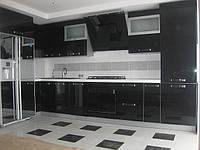 Кухня на заказ с крашенным МДФ фасадом