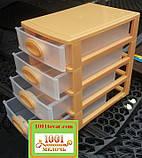 """Комод-органайзер """"Mini Medium"""", пластиковый на 4 секции разноцветный, фото 3"""