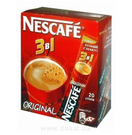 """Кофейная смесь Nescafe 3в1 """"Original"""" 20 шт."""